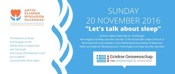 Seminar: Let's talk about sleep